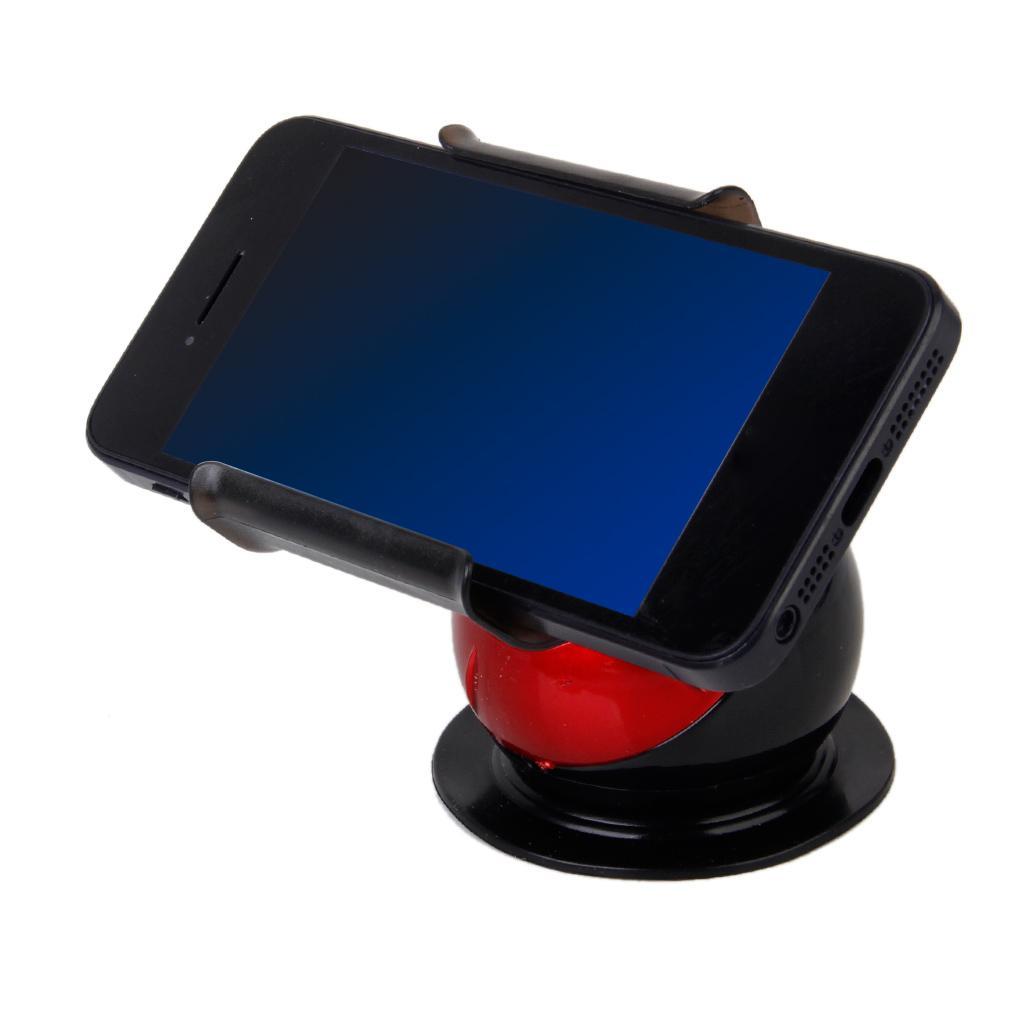 Universal Car Desktop Suction Cup Mount Holder Bracket for Smartphone- Red