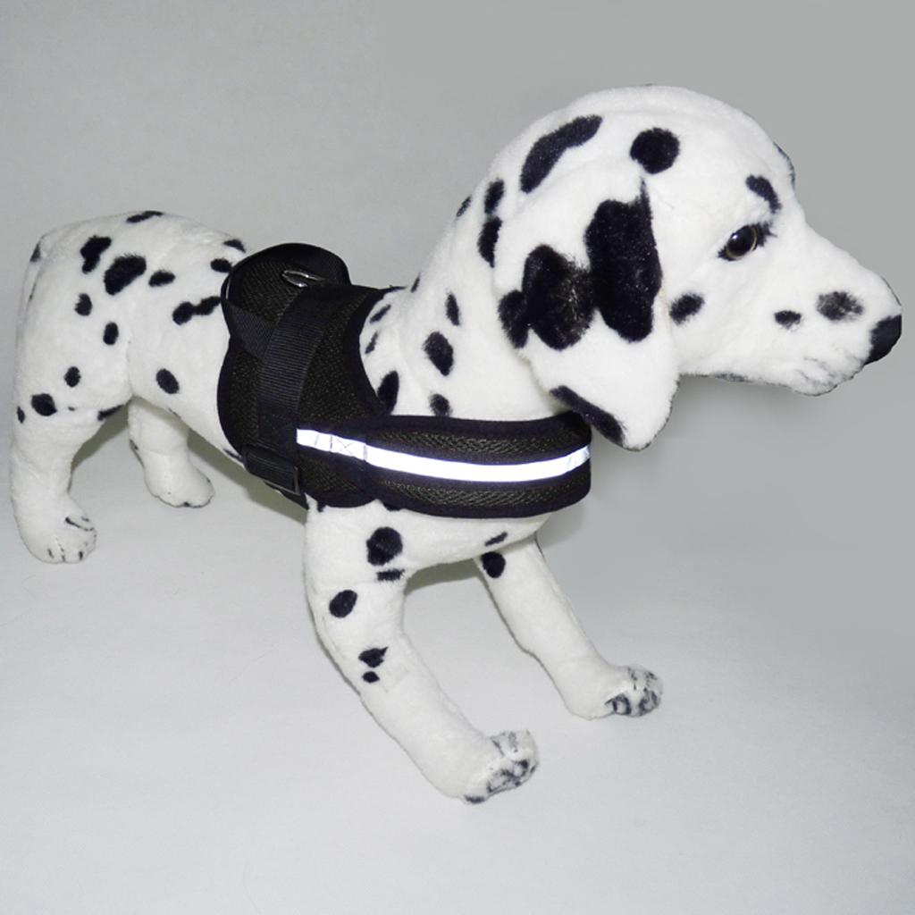 Large Dog Adjustable Chest Strap Belt Harness Pet Walking Collar XL Black