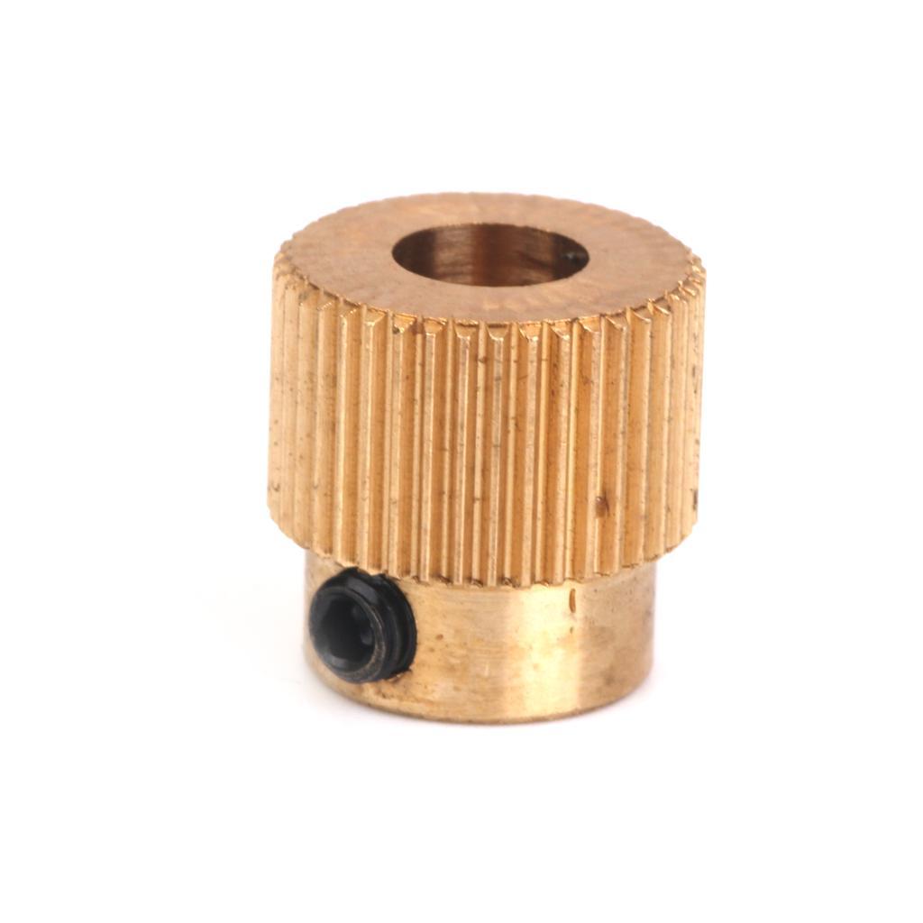 Extruder Drive Gear 40 Teeth Copper 5mm Shaft for 3D Printer 1.75mm Filament