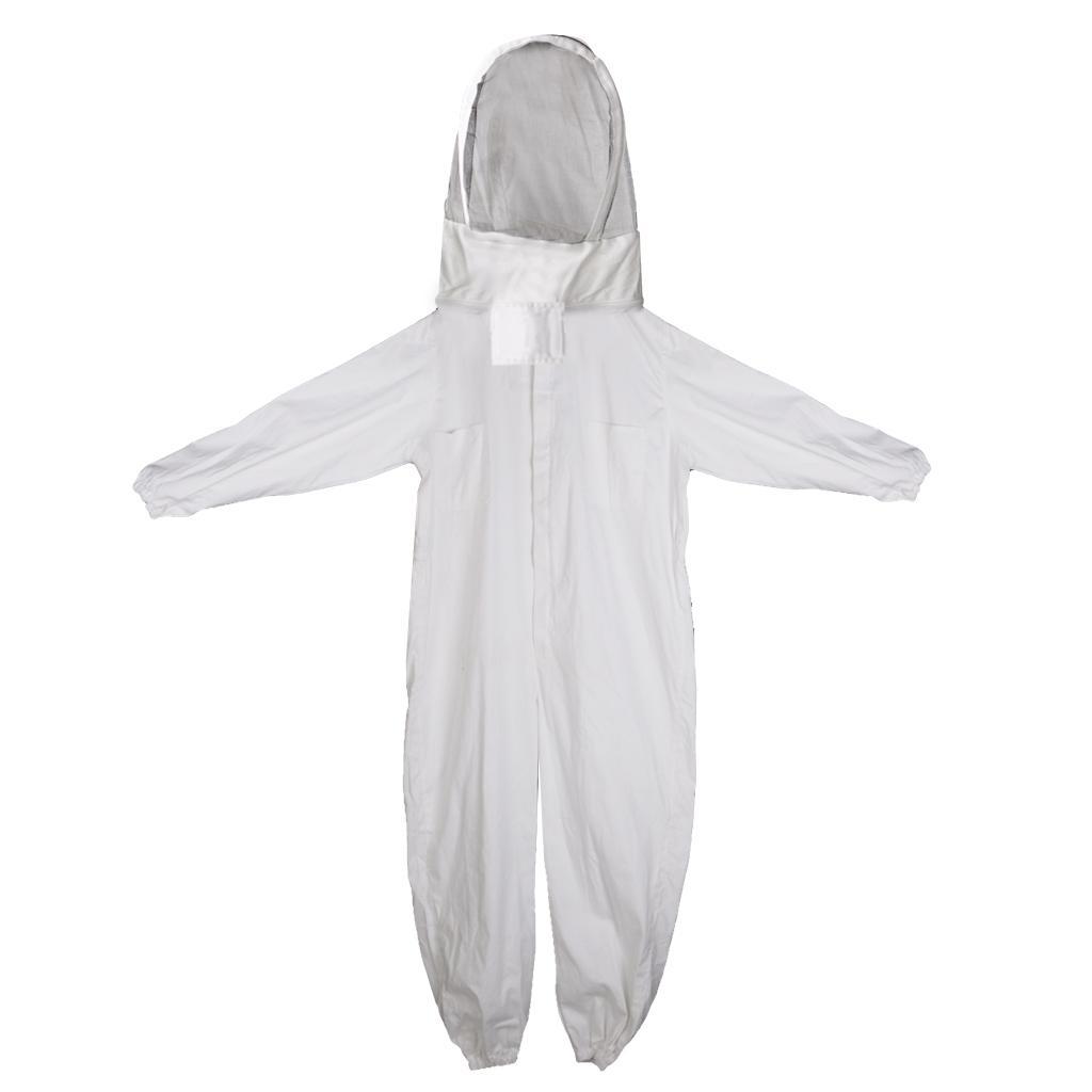 Beekeeping Jumpsuits Jacket Veil Bee Protection Suit Dress Smock Equipment