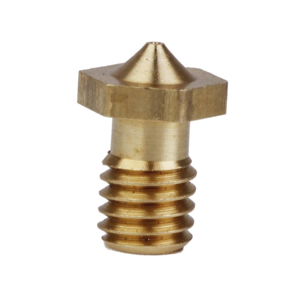 0.2mm Copper 3D Printer Print Head Extruder Nozzle Replacement 1pcs Golden
