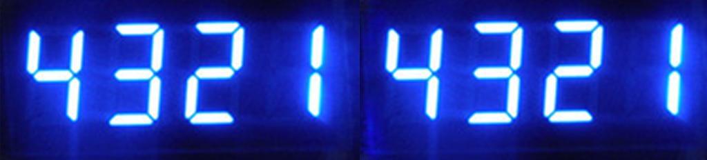 8-Digit LED Display Board Nixie Tube 595 Drive Module Blue Light