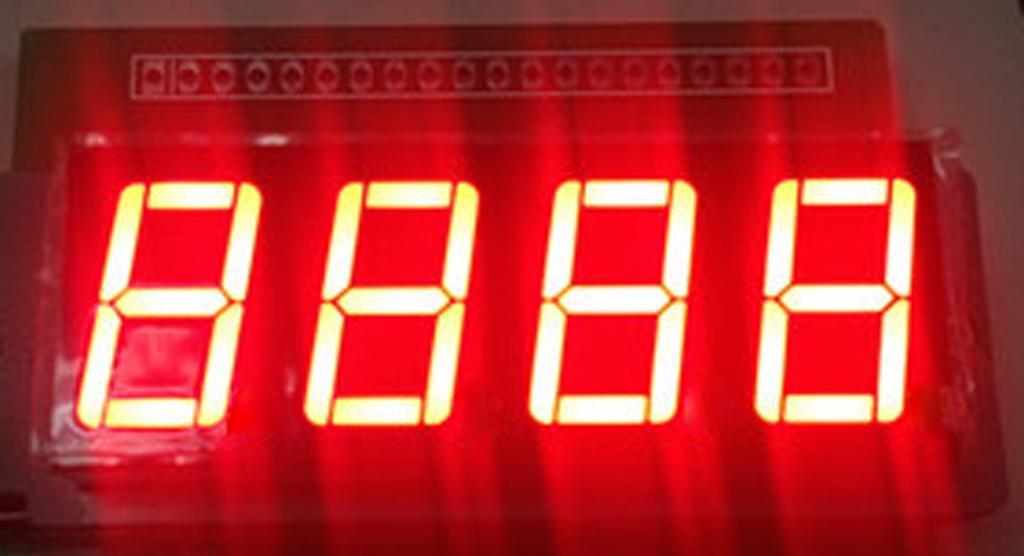 4-Digit LED Display Board Nixie Tube 595 Drive Module Red Light