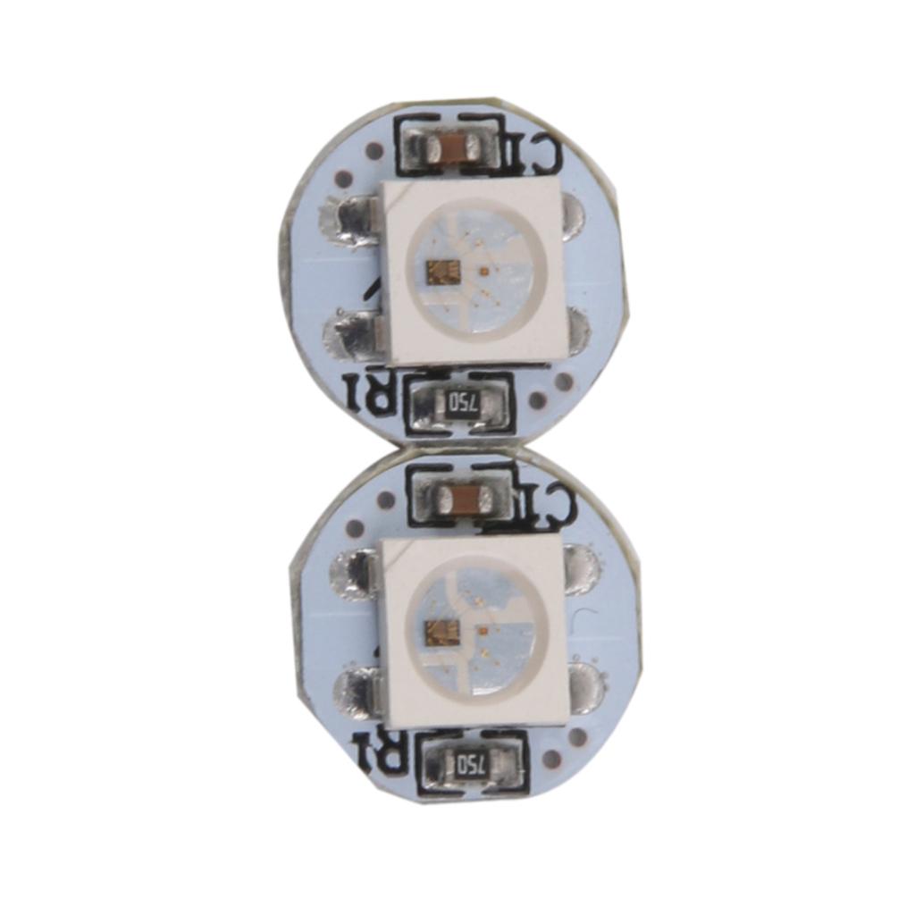 2pcs Mini 5050 RGB LED PCB Board WS2812B Module DC 5V for Arduino