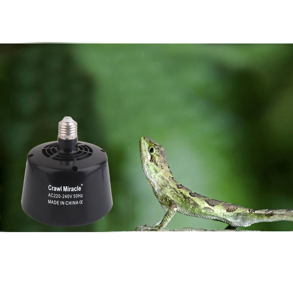 Pet Reptile Fan Ceramic Heater Emitter Brooder Lamp for Terrarium Vivarium