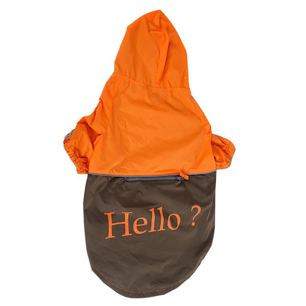 Pet Large Dog Rain Slicker Raincoat Size XXXL - Orange with dark coffee