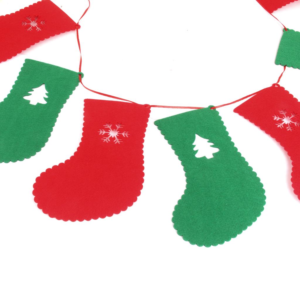 Pcs christmas xmas stockings bunting garland banner
