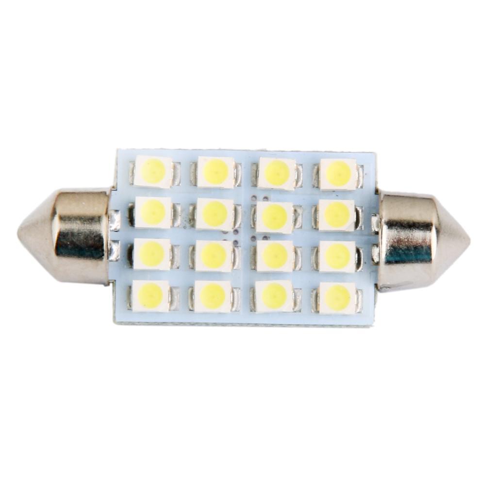 LED Car Bulb 42mm 3528 16LED SMD Dome Map Interior Light Lamp 12V