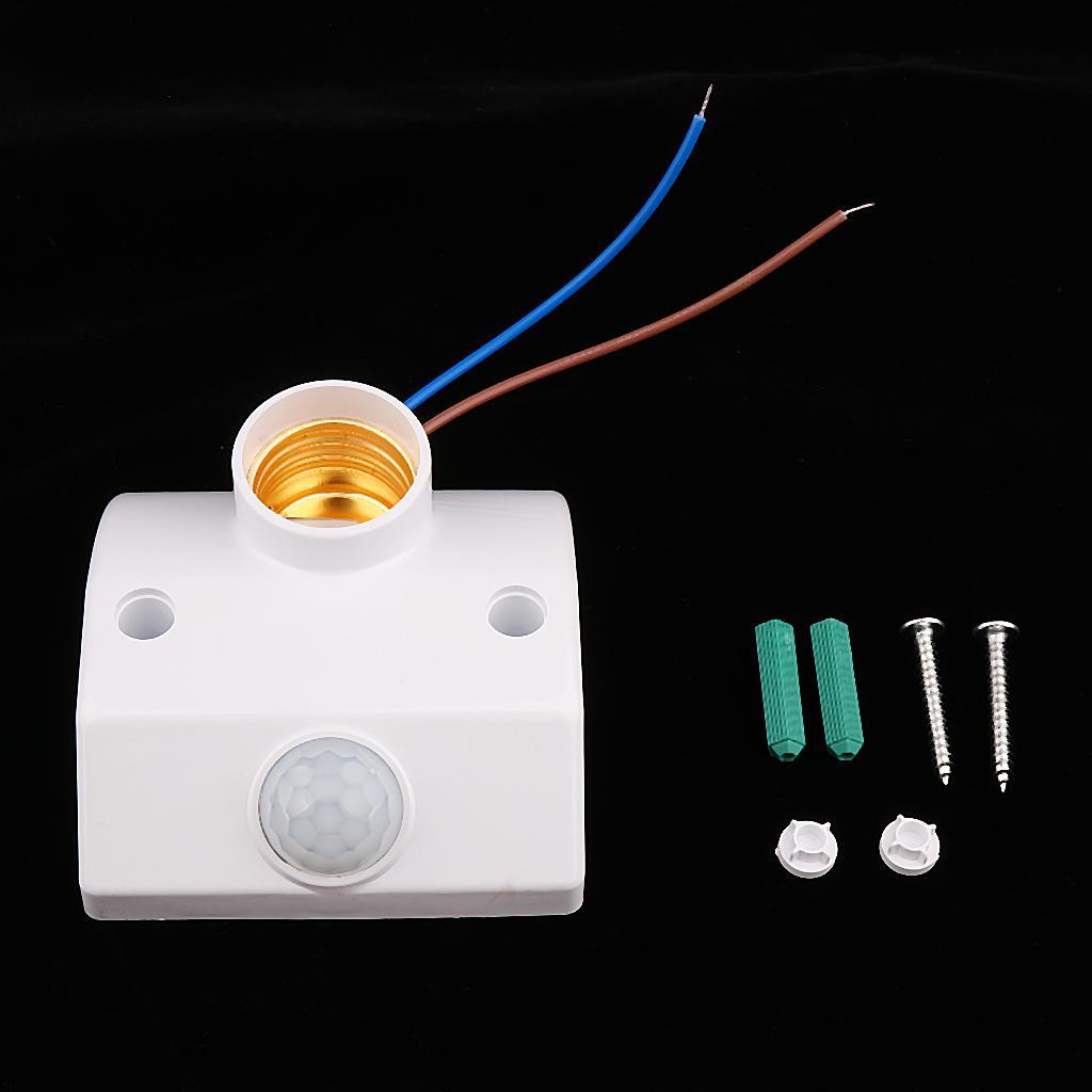 E27 Socket PIR Auto Human Motion Sensor Infrared Detector Bulb Base Holder