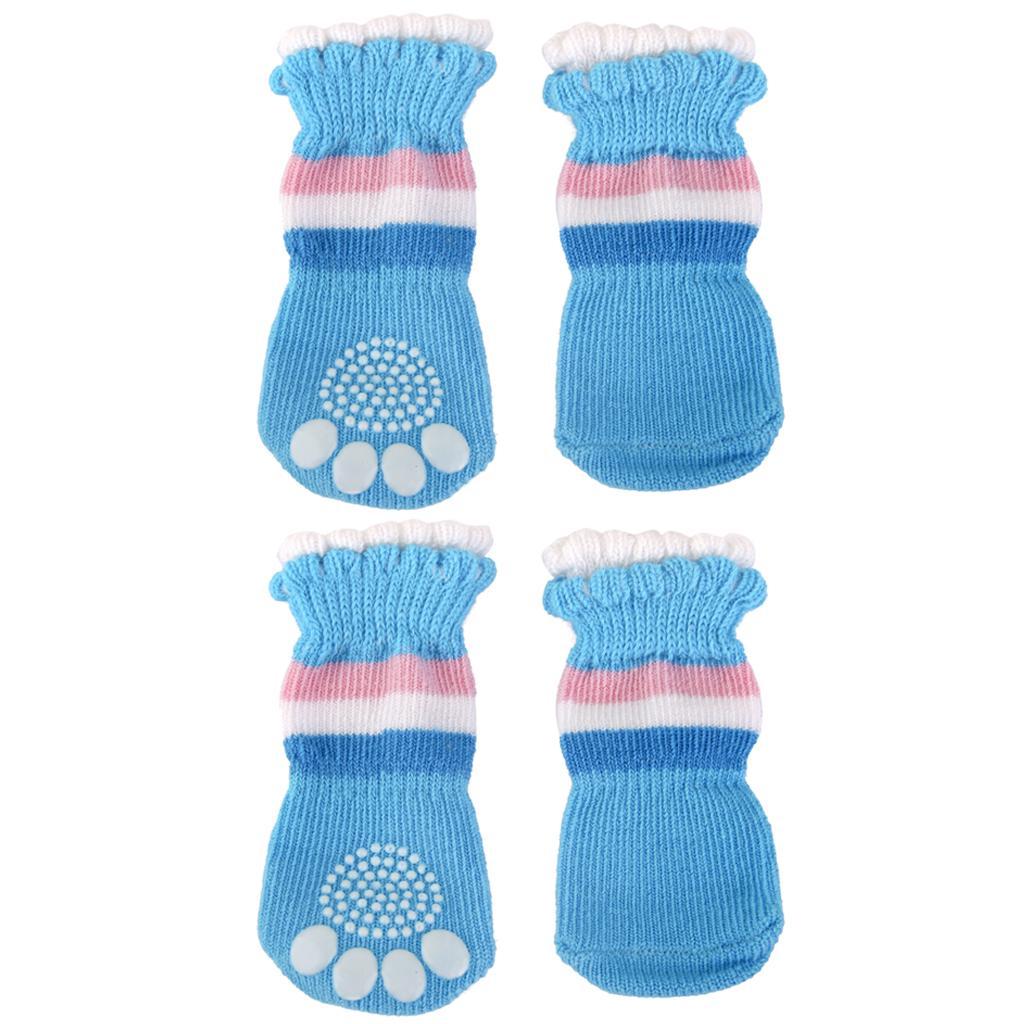 New Puppy Dog Cute Cartoon Non-Slip Socks Pet Footwear Slippers Size XL