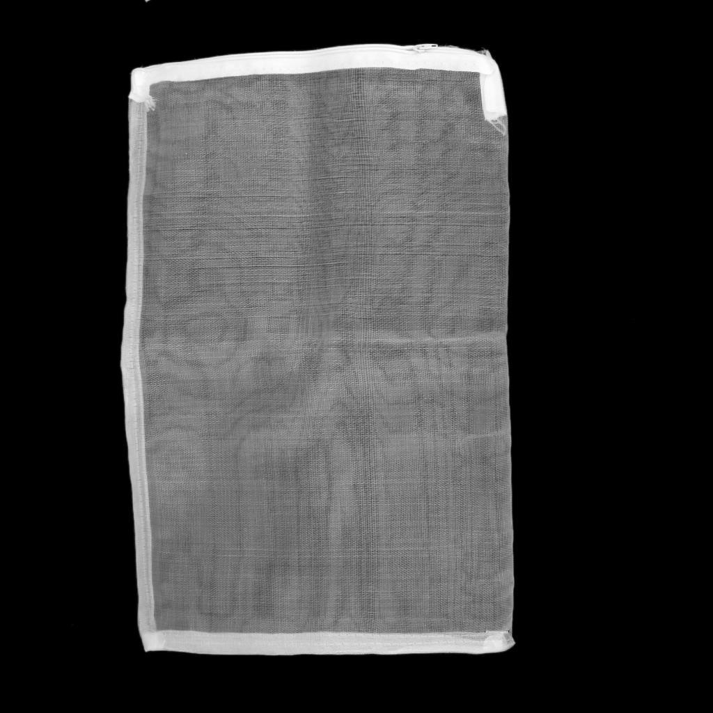 10pcs zipper nylon mesh filter media bag 25x38cm for for Pond filter mesh