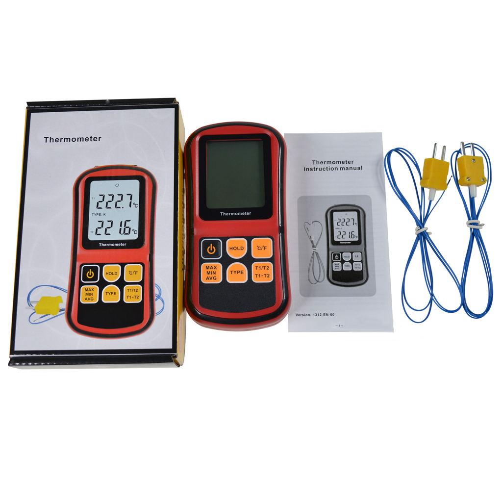 K-Type Digital Thermometer w/ Thermocouple Sensor