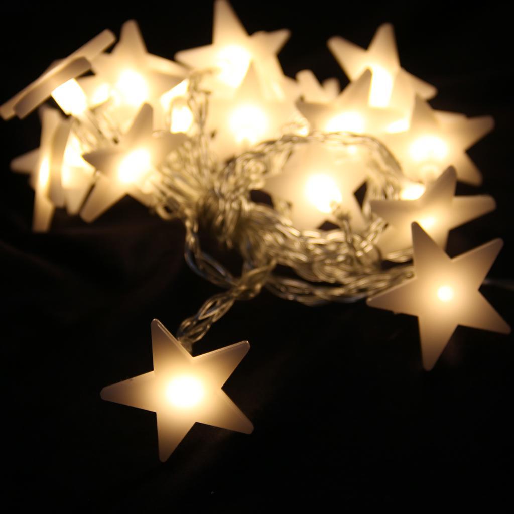 20-LED 78inch Battery Operated Diwali Star Pentagram String Fairy Lights