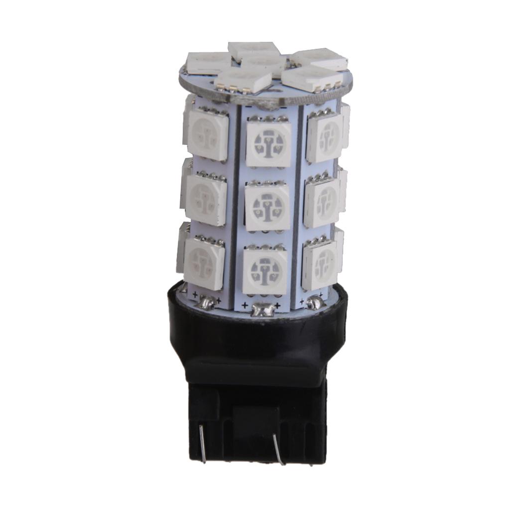 T20 27 SMD 5050 LED 7443 Car Tail Brake Side Marker Parking Light Bulb Green