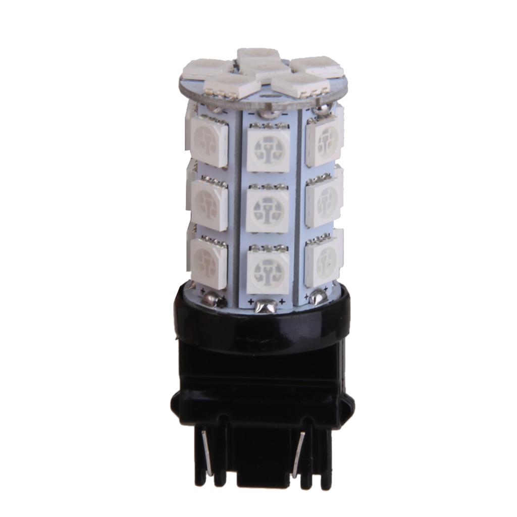 T25 27 SMD 5050 LED 3157 Car Tail Brake Stop Parking Light Bulb Blue 12V