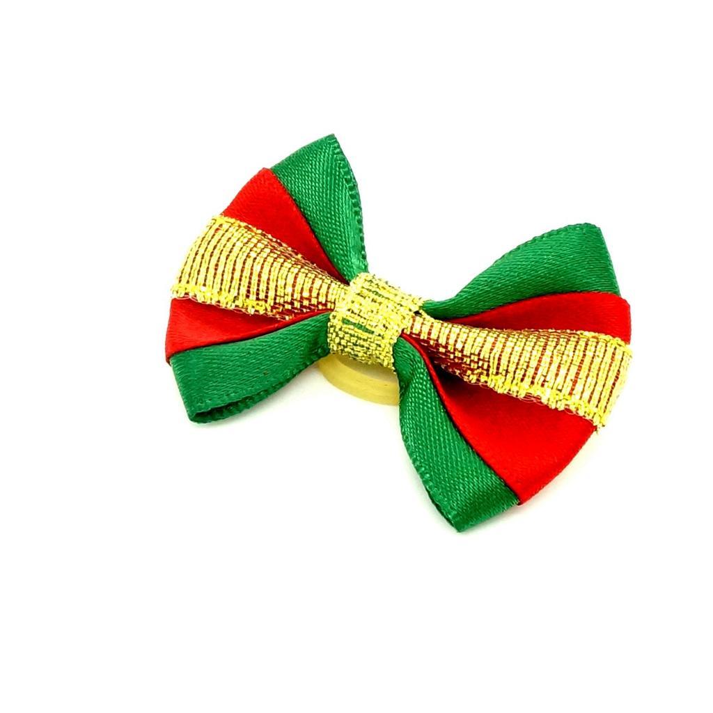 Christmas Style Pet Hair Rubber band Hair Rope Hair Ribbon Bow Dog Charm