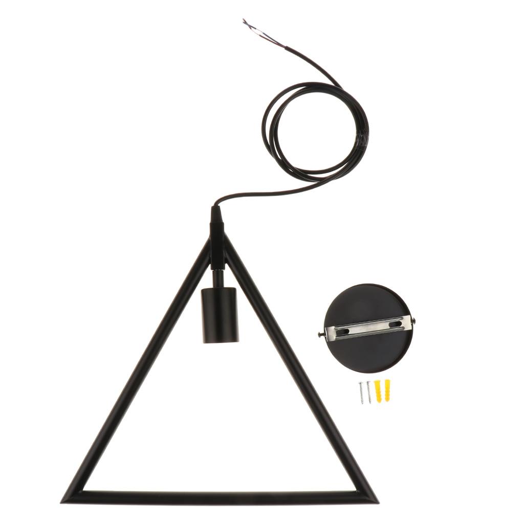 Edison Vintage Geometric Triangle Ceiling Pendant Light Lamp Holder Fixture