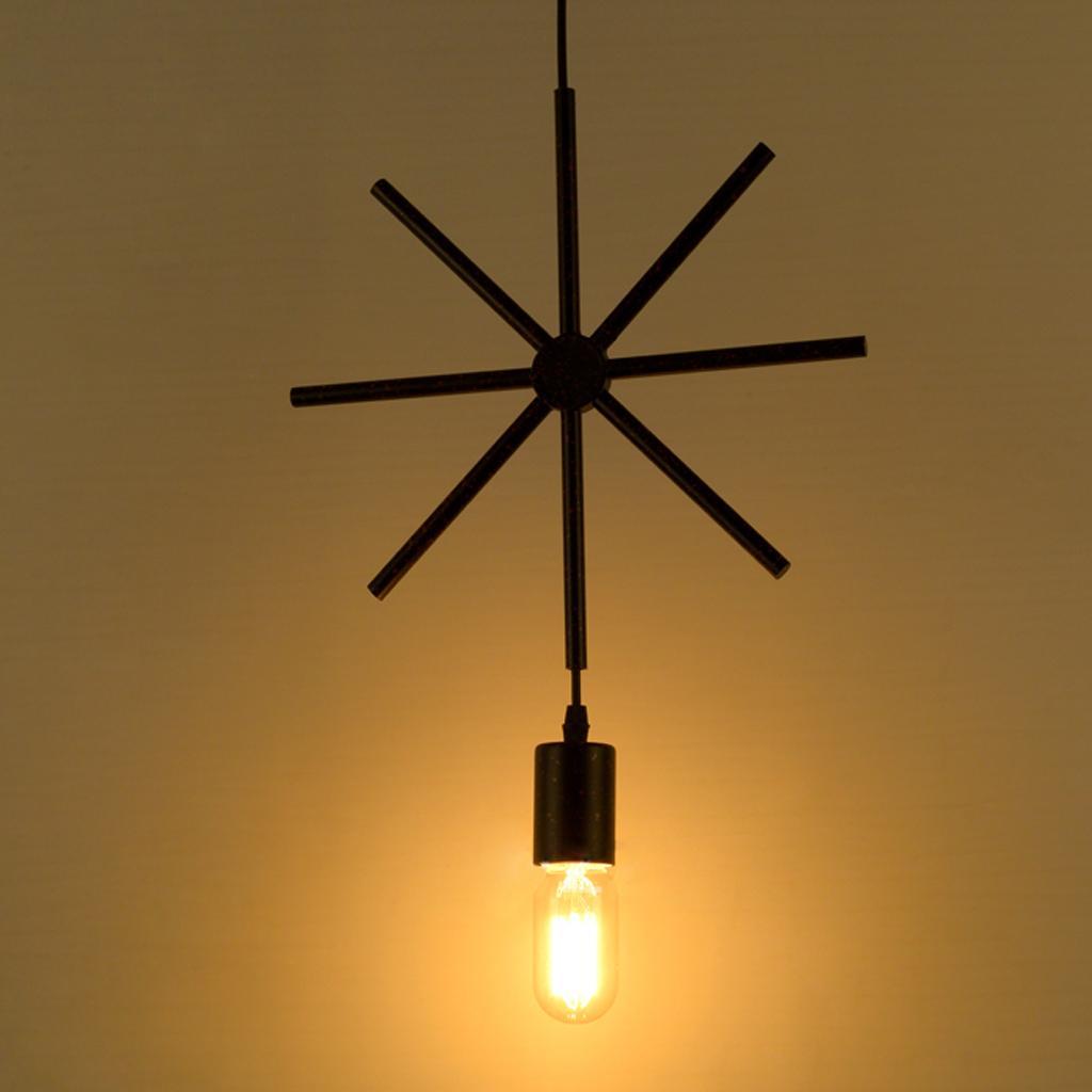 Edison Vintage Geometric Snowflake Ceiling Pendant Light Lamp Holder Fixture