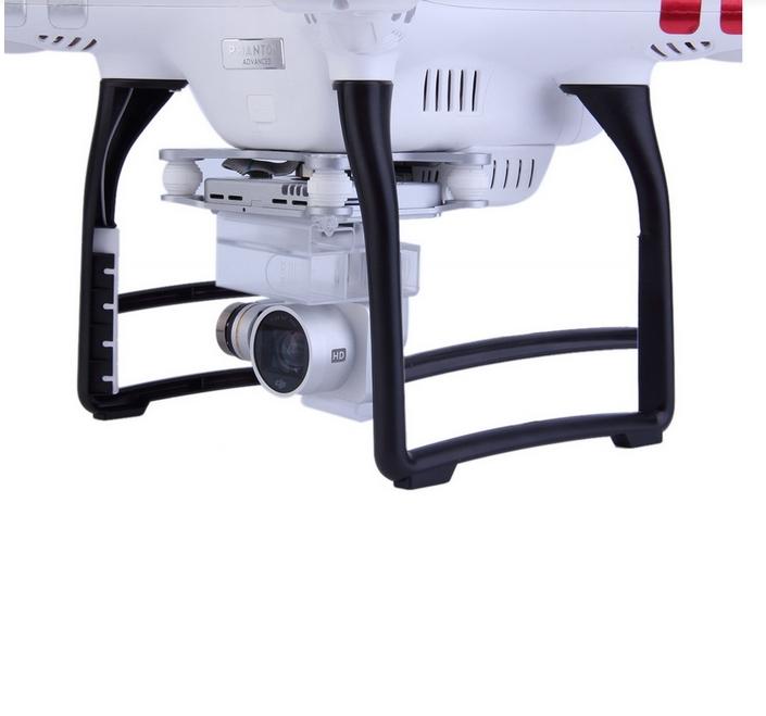 1 Pair High Extended Tall Landing Gear Skid For Phantom 3 Black