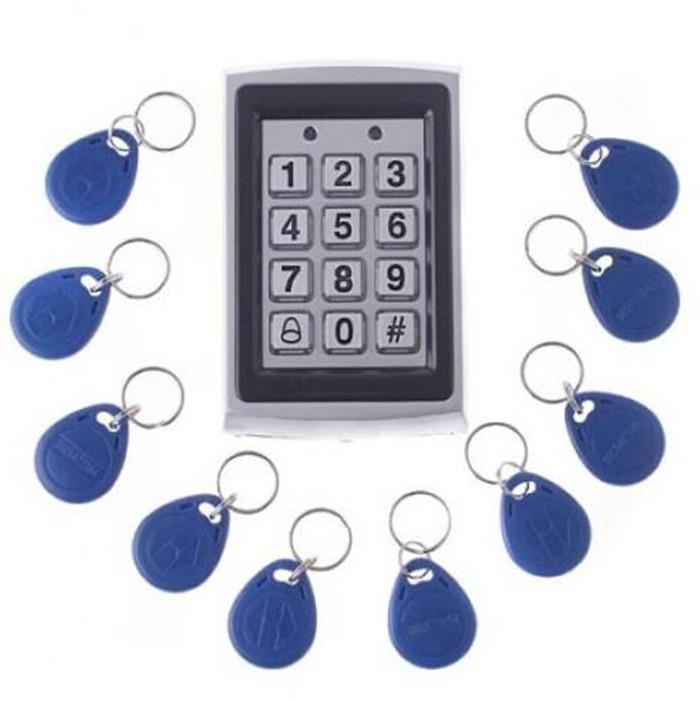 Metal Password Keypad RFID Card Reader Door Access Control Security System