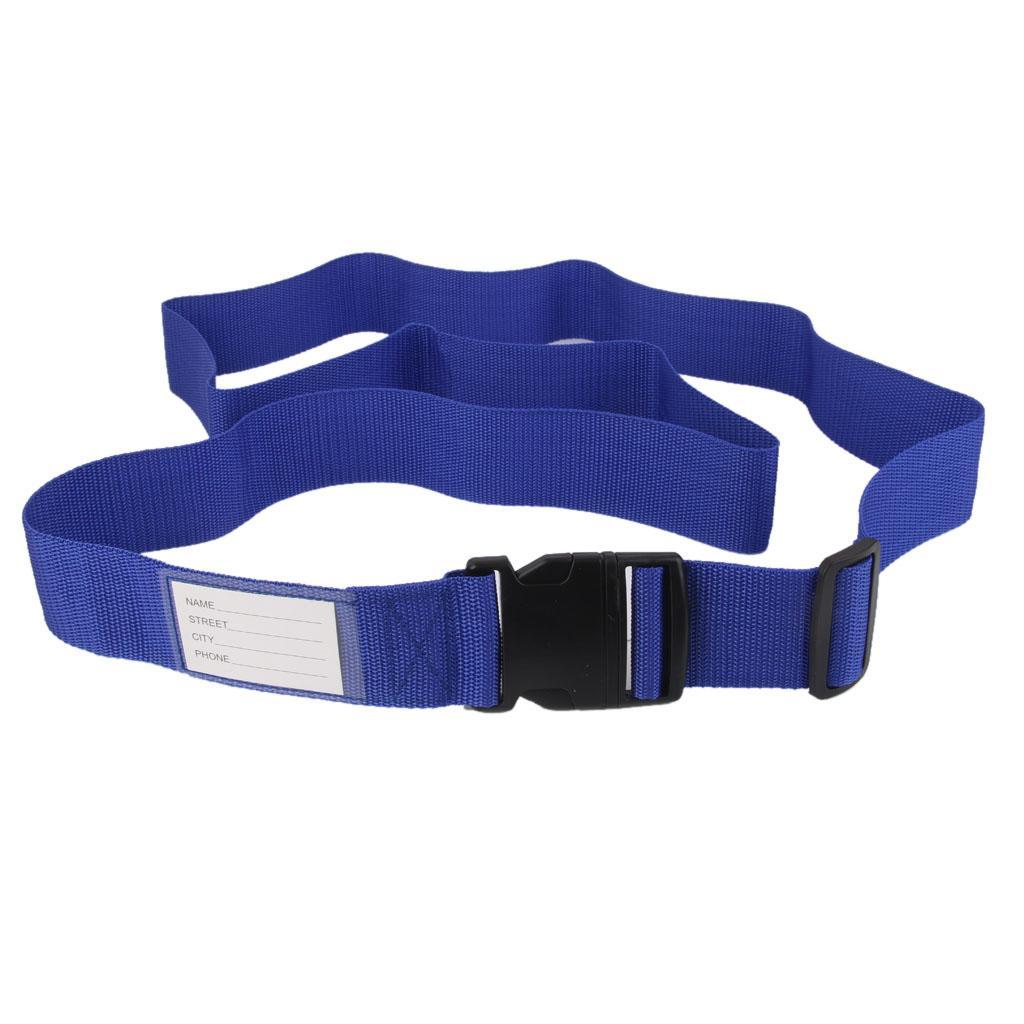 Luggage Straps Tight Adjustable Tie Down Safety Buckle Belt - Blue