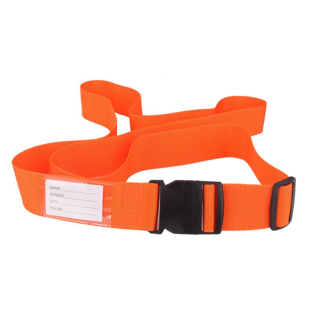 Luggage Straps Tight Adjustable Tie Down Safety Buckle Belt - Orange