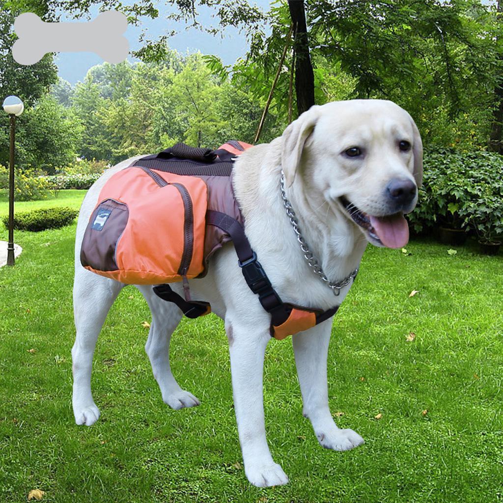 Dog Foldable Backpack Waterproof Portable Travel Outdoor Bag Pack Orange L