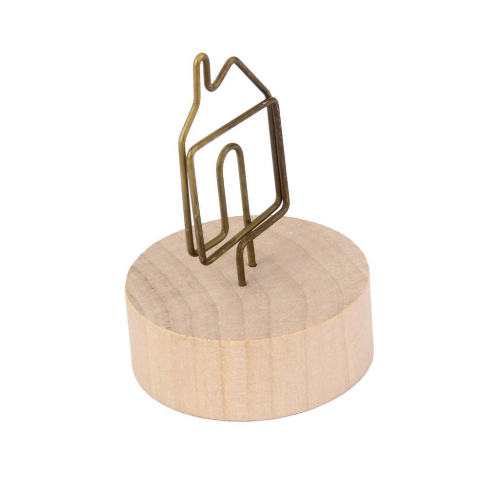 House shape design memo holder paper note photo clip desk for Architectural plans holder