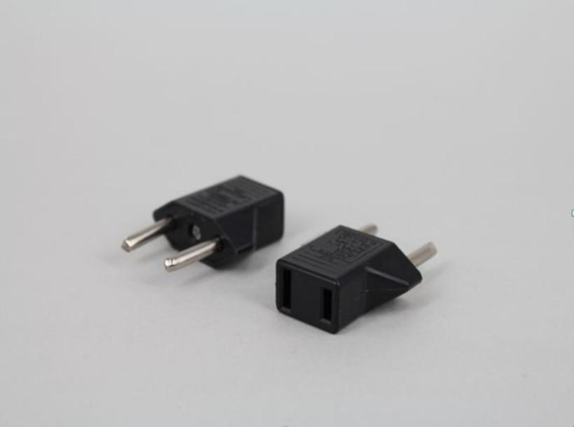 2-prong US To EU Plug Power Adapter Travel Adaptor Converter