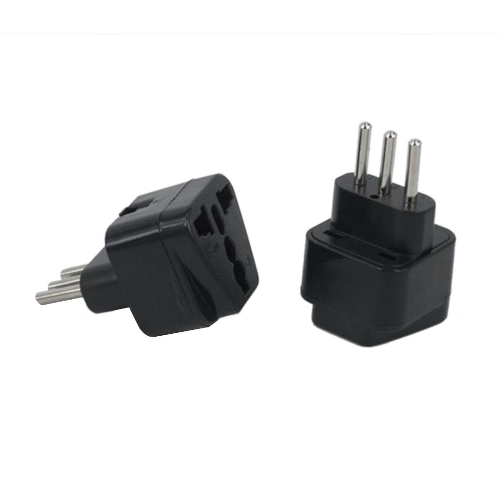 3-prong Australia US UK EU To Italy Plug Power Adapter Travel Adaptor