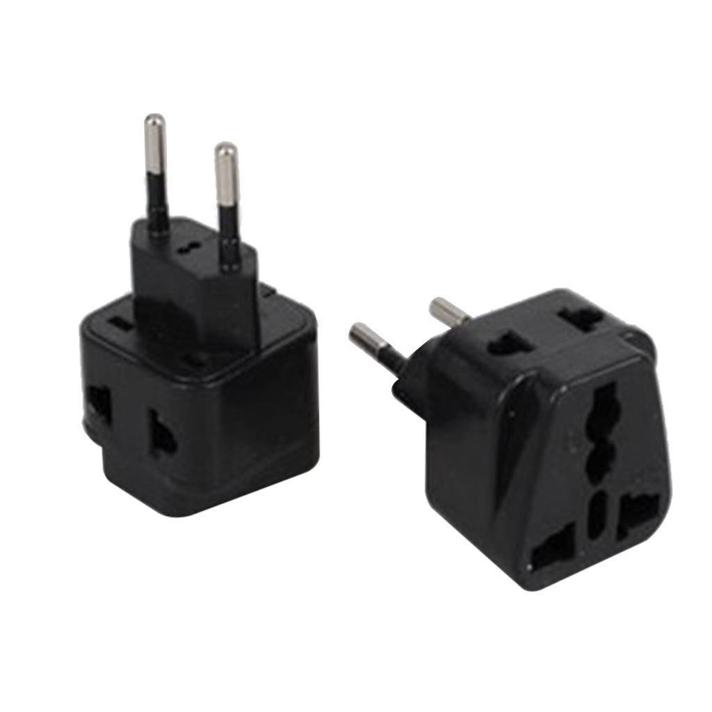 Australia US UK EU To Brazil Plug Power Adapter Travel Adaptor w/ Side Jack