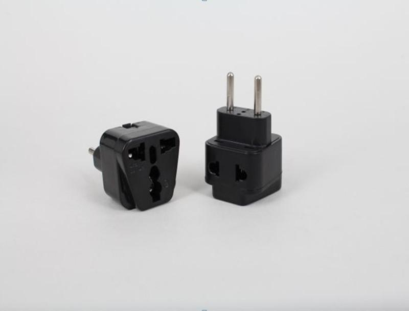 Universal UK/US/AU to EU Euro 2 Pins Travel Power Adapter Plug Jack