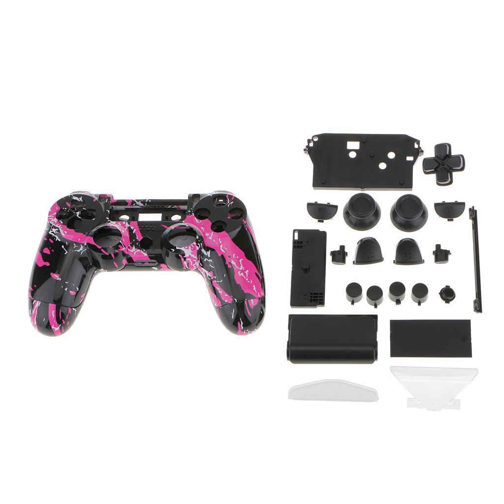 Splash Purple Full Housing Shell Case Button Kit for PS4 Wireless Controller