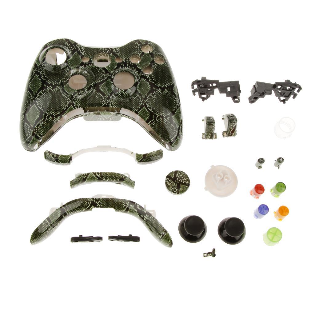 Full Housing Shell Case Kits for Xbox 360 Wireless Controller -Snake skin