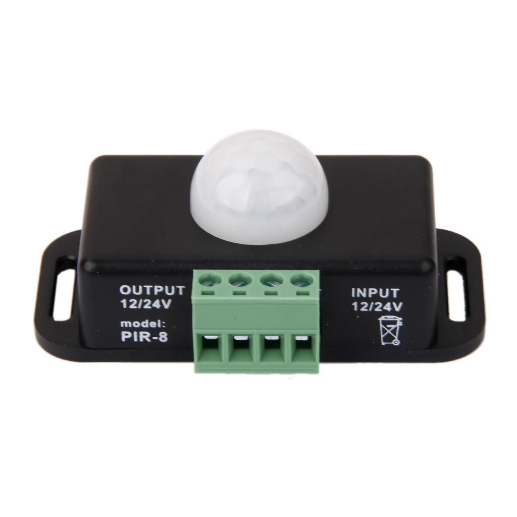 Automatic DC 12V-24V 8A Infrared PIR Motion Sensor Switch For LED light