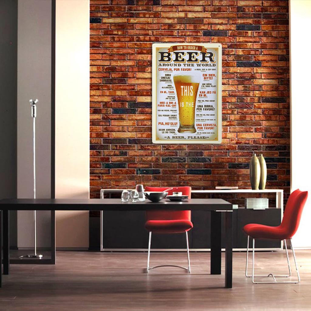 20x30cm Vintage Metal Tin Sign Plaque Wall Art Poster Cafe Bar Pub Beer #4