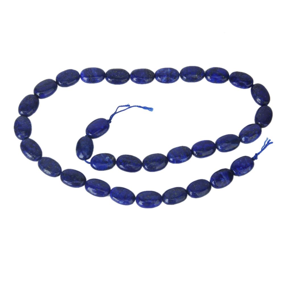 Lapis Lazuli Oval Gemstone Loose Beads Strand 8 x 12mm / 15.5 Inch