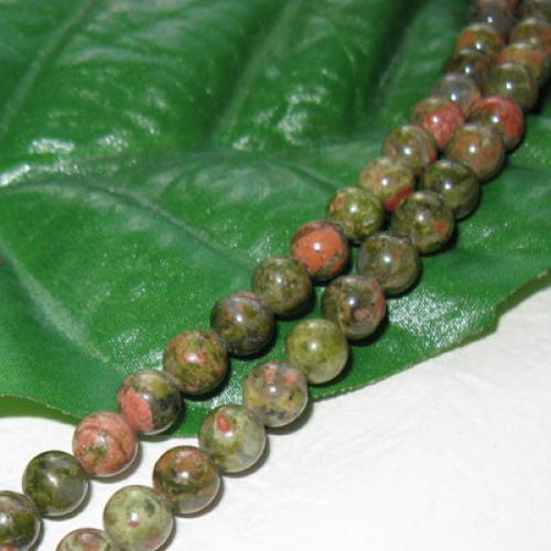 Unakite Round Gemstone Loose Beads Strand 4mm / 15.5 Inch