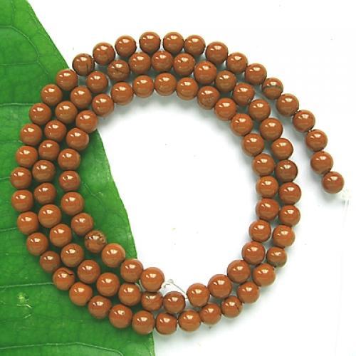 Red Jasper Round Gemstone Loose Beads Strand 4mm / 15.5 Inch