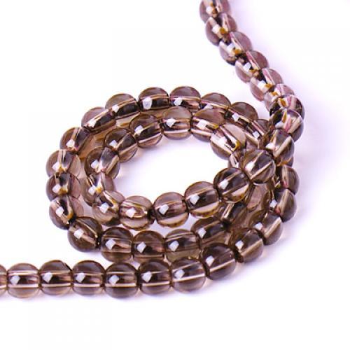4 mm smoky quartz gemstone loose beads stand 15.5 Inch