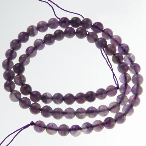 2 Strands 15 Inch 6mm Amethyst Round Gemstone loose Beads