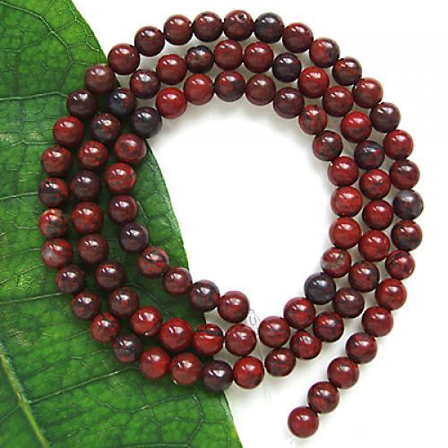 2 Strand 4mm Poppy Jasper Round Gemstone Loose Beads 15 Inch