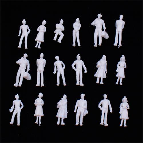 100pcs Light Grey Model Train People Figures Scale TT (1 to 100)