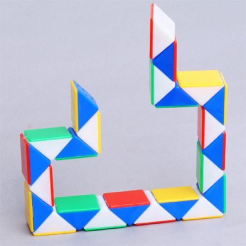 New Magic Cube Puzzle Toy Exotic Snake Game 24 Bricks