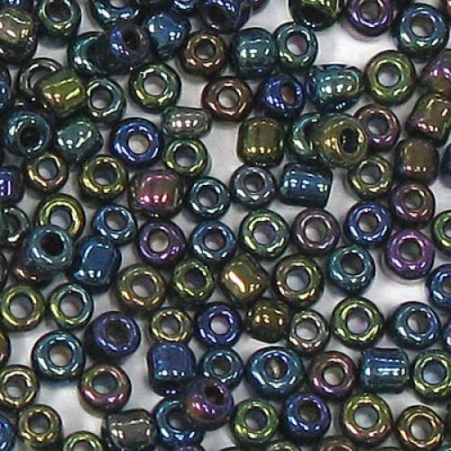 45g Rainbow Opaque Iris 11/0 Glass Seed Beads 409#