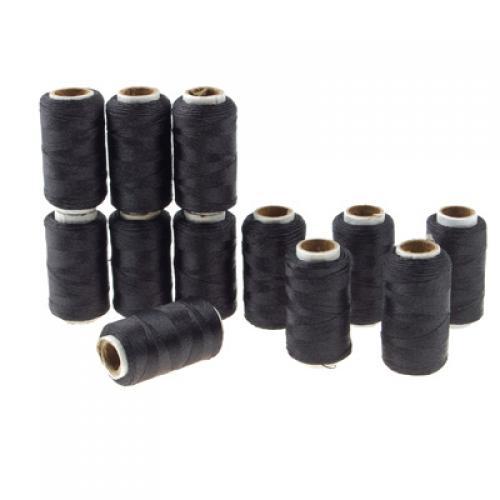 12 Spools Embroidery Thread - Black