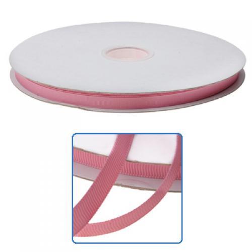 3/8 Inch Solid Grosgrain Ribbon 100 Yards / Roll- Pink 153#