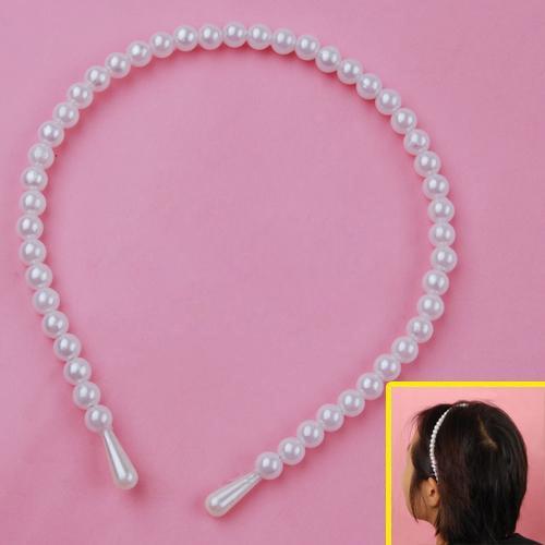 Gossip Girl Headband Faux Pearl Beaded Hairband Gift 8mm