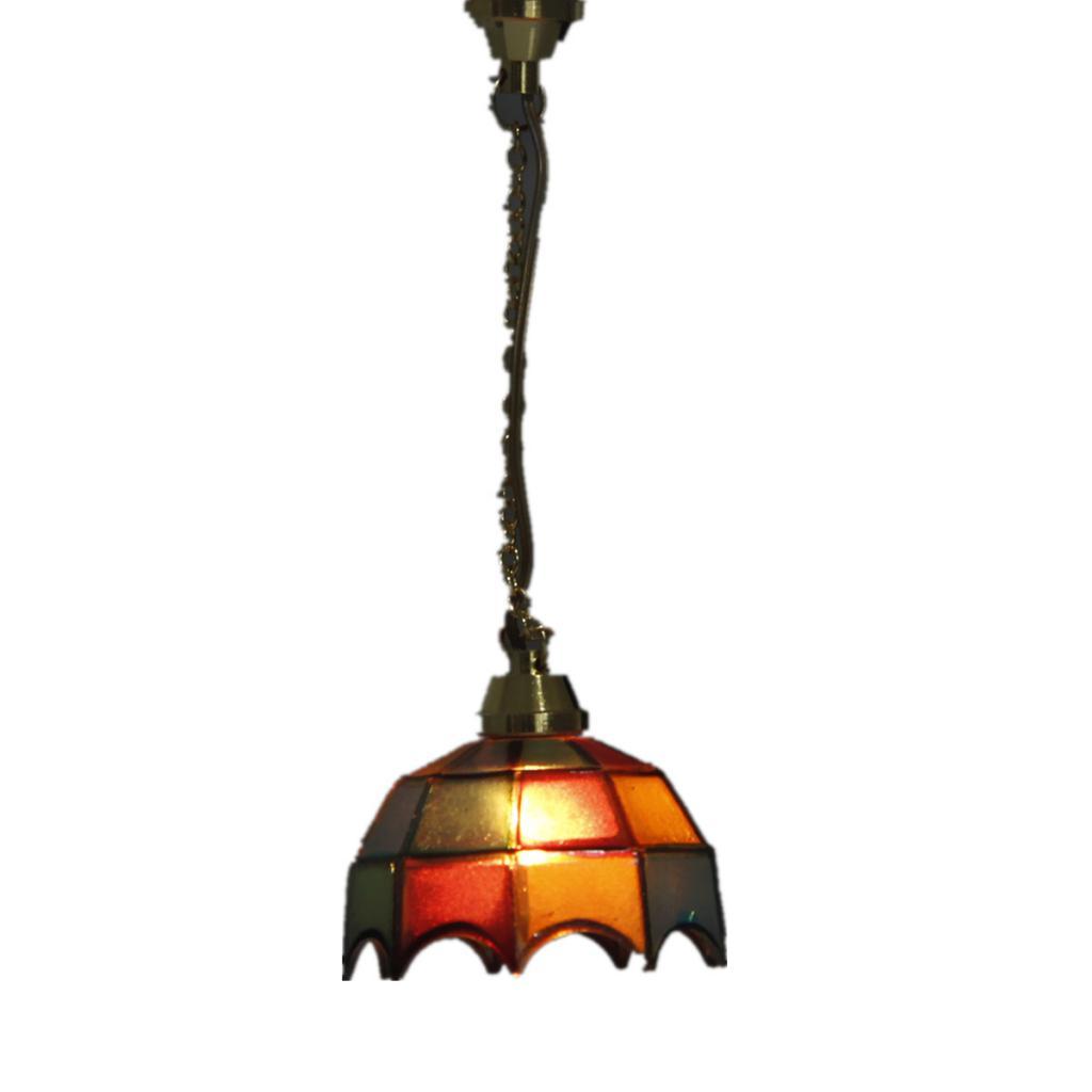 1/12 Dollhouse Miniature Pretty Color Ceiling Lamp Light Droplight