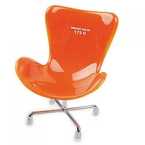 Detachable Dollhouse High-back Chair Mobile Cell Phone Holder Display - Orange